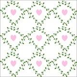 Pattern dandelions. Seamless pattern, heart, climbing plant Vector Illustration