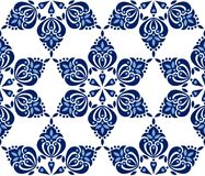 Pattern in dark blue tones on white background. Royalty Free Stock Photos