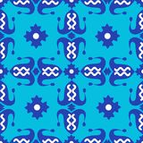 Pattern with dark blue tulips vector illustration