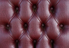 Pattern of dark leather upholstery texture Royalty Free Stock Images