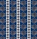 Pattern of dark leaves Royalty Free Stock Photos