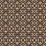Pattern with dark lines on beige in art deco style Stock Photography