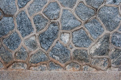 Pattern of decorate Stone wall texture Royalty Free Stock Images