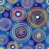 Pattern decorative circles Royalty Free Stock Photography
