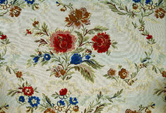 Pattern of a decorative floral tapestry Stock Photo