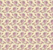 Pattern with a decorative flower. Pastel Stock Image