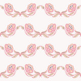 Pattern with a decorative flower. Pastel Stock Photos