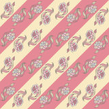 Pattern with a decorative flower. Pastel Stock Photo