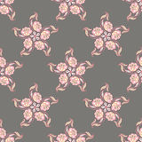 Pattern with a decorative flower Stock Photo