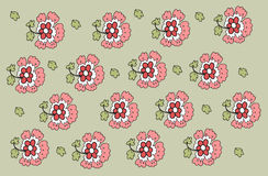 Pattern with decorative flowers Royalty Free Stock Photos