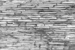 Pattern of decorative grey slate stone wall surface, background, texture Royalty Free Stock Photography