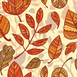 Pattern of decorative leaves Royalty Free Stock Images