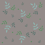 Pattern decorative leaves Stock Image