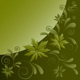 Pattern from decorative leaves and curls Stock Photos