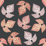 Pattern with decorative leaves. Seamless Pattern with decorative leaves Royalty Free Stock Images
