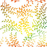 Pattern of the decorative leaves and twigs. Seamless pattern. Stock Image