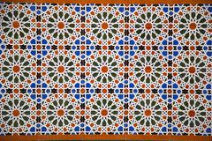 Decorative Tiles. A pattern of decorative moorish/arabic tiles. Similar tiles can be found hanging in palaces, mosques and markets all around the Mediterranean Royalty Free Stock Photos