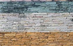Pattern of decorative slate stone wall surface Stock Photos
