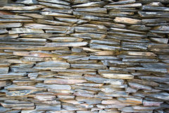 pattern of decorative slate stone wall surface Stock Images