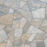 Pattern of decorative slate stone wall Stock Photo