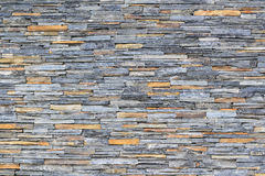 Pattern of decorative slate stone wall surface. For background Stock Photography