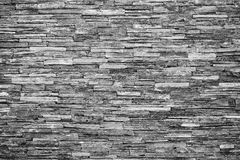 Pattern of decorative slate stone wall surface. For background Royalty Free Stock Images