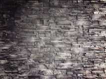 Pattern of decorative slate stone wall surface. For background Stock Photos