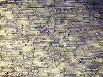 Pattern of decorative slate stone wall surface. For background Royalty Free Stock Image