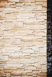 Pattern from decorative slate stone wall surface. Royalty Free Stock Photos