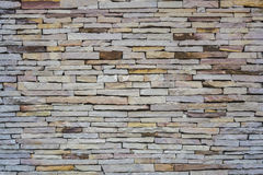 Pattern of decorative stone wall background.  Royalty Free Stock Image
