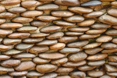 Pattern of decorative stone wall surface Royalty Free Stock Image