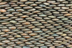Pattern of decorative stone wall surface. Or background Royalty Free Stock Photo