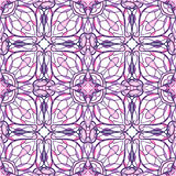 Pattern with decorative symmetric oriental ornaments Stock Images