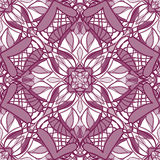 Pattern with decorative symmetric ornament Stock Images