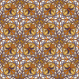 Pattern with decorative symmetric ornament Royalty Free Stock Images