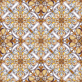 Pattern with decorative symmetric ornament Stock Photography