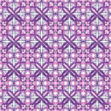 Pattern with decorative symmetric ornament Royalty Free Stock Photo