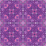 Pattern with decorative symmetric ornament Royalty Free Stock Photos