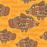 Pattern with decorative unusual fish Royalty Free Stock Photography