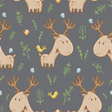 Pattern with deer. Royalty Free Stock Images