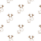 Pattern with deer. Stock Photos