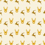 Pattern with deers Stock Photo