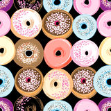 Pattern delicious donuts Stock Photo