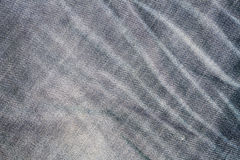 Pattern of denim jean classic creased style Stock Image
