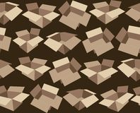 Pattern, depicting cardboard boxes Stock Photos
