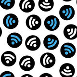 Pattern depicting characters Wi Fi stock illustration