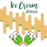 Print Ice cream green pattern vector royalty free illustration