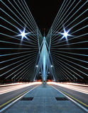 Pattern and Design of Bridge with car light trails. An image of pattern and design of bridge royalty free stock photography