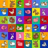 Pattern design with cartoon farm animals Royalty Free Stock Photo