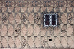 Pattern Design on House Wall Royalty Free Stock Photo